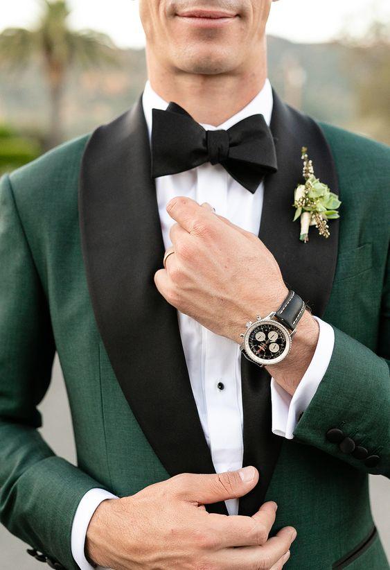 Setelan Jas Pernikahan Hijau